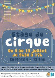 Stage de Cirque du 9 au 13 juillet