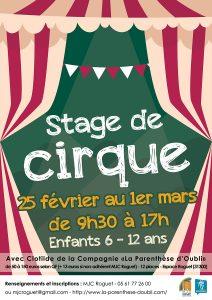 Stage de Cirque du 25 février au 1er mars