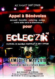 Festival Eclec'zik 2019 : appel à bénévoles !