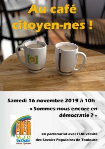 Café citoyen annulé