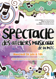 Spectacle ateliers musicaux