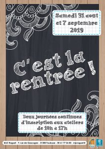 Les inscriptions reprennent !