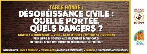 Table ronde sur la désobéissance civile