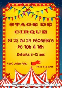 Stage de Cirque les 23 et 24 décembre