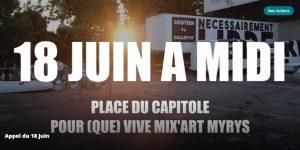 L'appel du 18 juin de Mix'Art Myrys